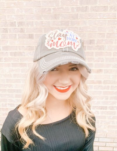 """Slay At Home Mom"" Hat (Grey)"